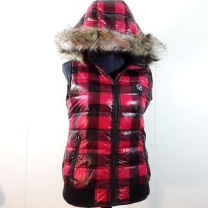 American Eagle duck down blend vest with hood